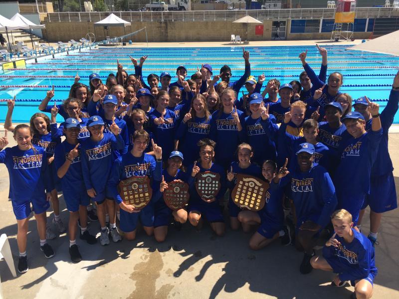 St Norbert College Win E Division Swimming Carnival 2017